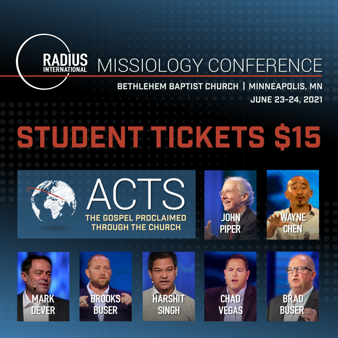 Student Pricing Radius Missiology Conference